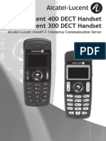 Alcatel-Lucent 400 DECT User Guide