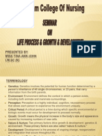 Life Process & Seminar on Growth & Development