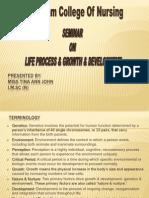 Life Process & Seminar on Growth & Development