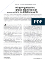 Workman 1998 Marketing Organization an Integrative Framework of Dimensions and Determinants