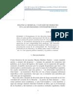 Arroyo Zapatero, Luis- Política Criminal y Estado de Derecho en Las Sociedades Contemporáneas