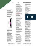 Artículo de Tecnología