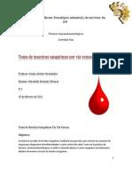 Practica de Toma de Muestras sanguíneas por vía venosa