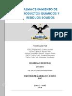 ALMACENAMIENTO DE PRODUCTOS QUIMICOS Y RESIDUOS SOLIDOS.docx