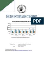 DEUDA EXTERNA COLOMBIANA 2014