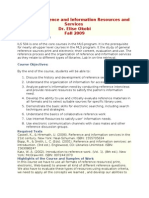 ILS 504 Reference and Information Resources and Services