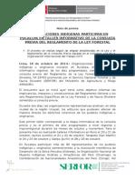 SE INICIA EN PUCALLPA ETAPA INFORMATIVA DE CONSULTA PREVIA