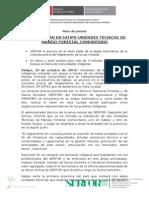 SE INSTALARÁN EN SATIPO UNIDADES TÉCNICAS DE MANEJO FORESTAL COMUNITARIO