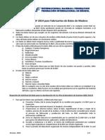2014 IBAF Wood Bat Manufacturer Rules - Application Form ESP 20140616