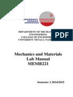 MEMB221 Lab Manual