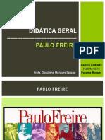 Trabalho Didatica - Paulo Freire