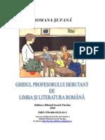 Ghidul Profesorului Debutant Clasa a XII-A-Romana Sufana