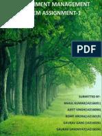 Environment Management Principles