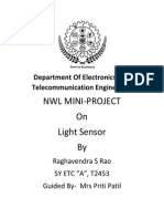 Mini Project ON LIGHT SENSOR