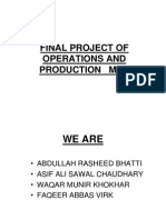 Final Project of Operations and Production Mgt