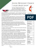 september newsletter 2014