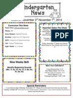Newsletter November 3rd[1]