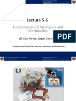 Lecture 5-6 Fundamentals of Mechanics and Mechanisms