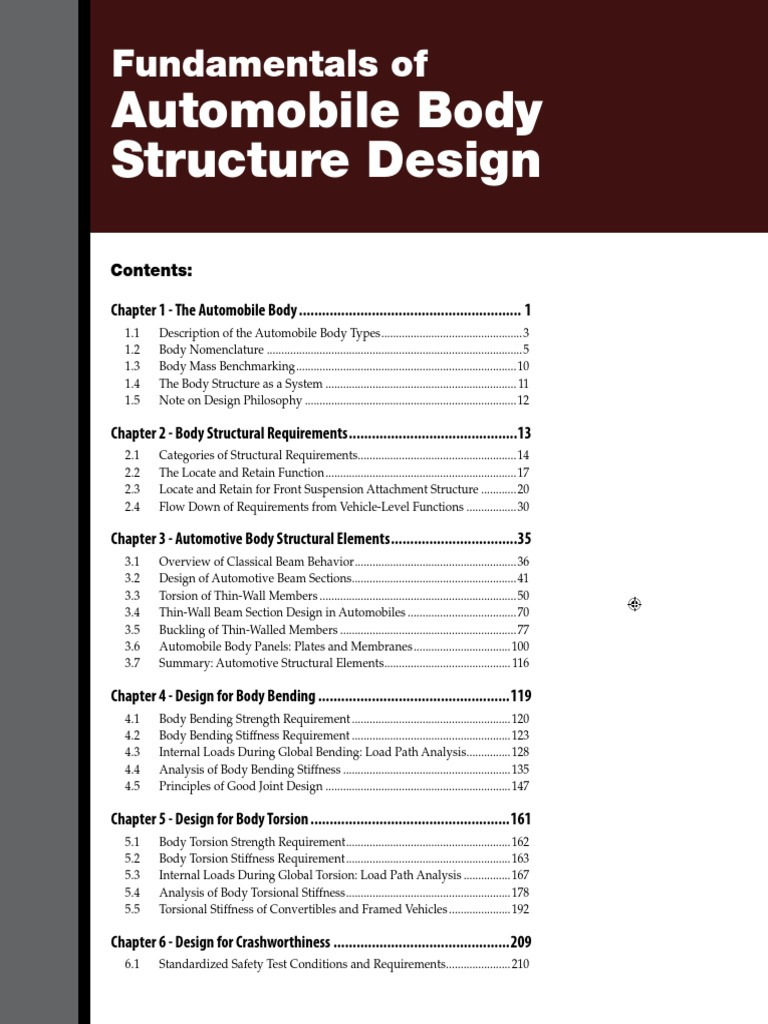 Fundamentals of automobile body structure design bending beam fundamentals of automobile body structure design bending beam structure malvernweather Choice Image