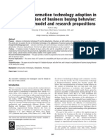 The Role of Information Technology Adoption in the Globalization of Business Buying Behavior - A Conceptual Model and Research Propositions