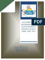El Gasto Público en Educacion en Peru