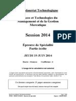 Stmg Mercatique Marketing 2014 Metropole Sujet