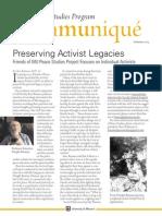 Communique Peace Studies 2014