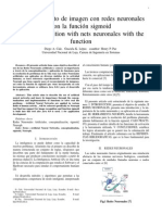 Reconocimiento de imagen con redes neuronales con la función sigmoid