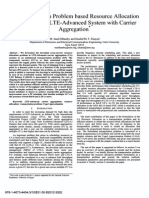 A Transportation Problem Based Resource Allocation Scheme for an LTE-Advanced System With CA