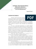 SUDERA Contrato y Relacion de Trabajo Definiciones y Diferencias