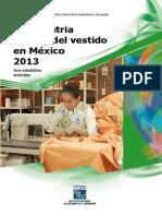 Inegi Industria Del Texti y Del Vestido Estadisticas 2013