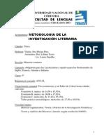 Metodologia de La Investigacion Literaria Pino