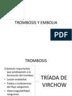 Trombosis y Embolia Patologia