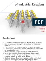 Evolution of Industrial Relations