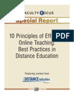 Ten Principles of Effective Online Teaching