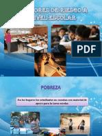 Factores de Riesgo a Nivel Escolar