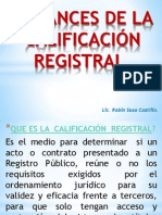 7. Alcances de La Calificación Registral