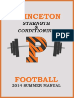 Princeton Football SUMMER MANUAL 2014