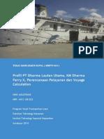 Perencanaan Pelayaran Dan Voyage Calculation KM Dharma Ferry II