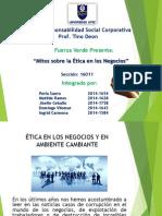 Presentacion Mitos Sobre La Ética en Los Negocios - Fuerza Verde