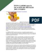 Tratamiento Casero Para La Desintoxicación de Metales Pesados Del