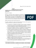 Carta a Cesar Camacho Quiróz