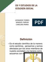 Campos y Estudios de La Psicologia Social