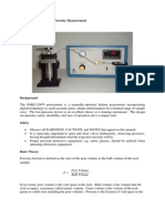 Laboratory Manual for Porosity Measurement
