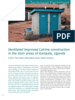 SRP U-ACT Factsheet VIP Latrine Construction Kampala