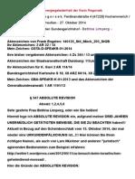 a01ba270-59f6-11e4-9ff2-00259075ade8 - SCHEINBESCHLUß Des BGHs XII ZA 57:14 - 15. Oktober 2014 - 22. Oktober 2014 Kopie - Einlegung Der § 547 ABSOLUTEN REVISION - 27. Oktober 2014