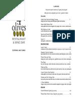 4 Olives Catering Menu 11-04-14