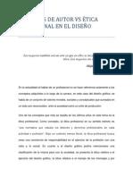 Derechos de Autor vs Ética Profesional en El Diseño Grafico