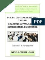 1er Taller de Coaching Ontologico e Inteligencia Emocional
