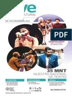 Agenda cultural de Conarte   noviembre 2014